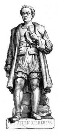 Jean Kleberger Stone statue by