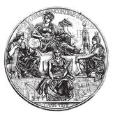 Medal of the Committee on meter vintage engraved illustration Magasin Pittoresque 1876