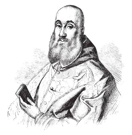 Antoine Perrenot de Granvelle, vintage engraving.