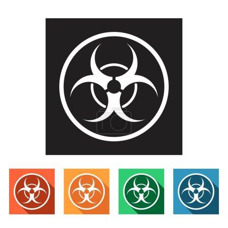 biohazard, dangerous icons