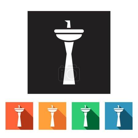 Sink, wash-basin icons