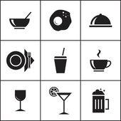 Potraviny, restaurace ikony
