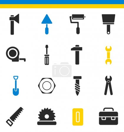 tools, construction icons