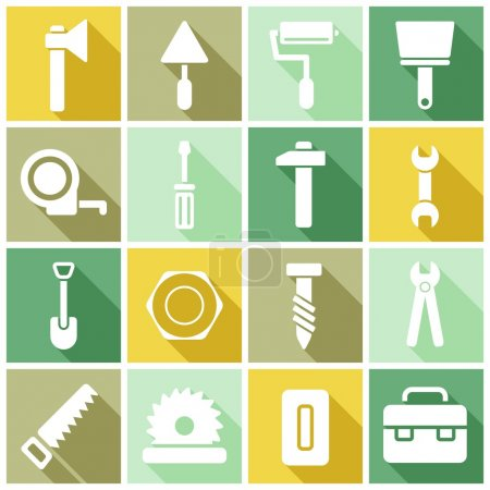 Construction, manufacture icons