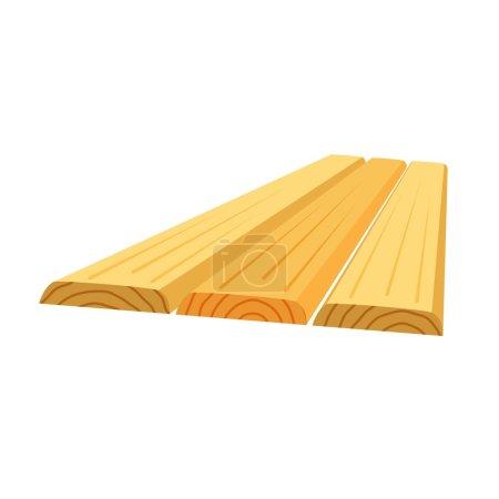 Illustration pour Sciages, empilement de planches de bois, illustration vectorielle - image libre de droit