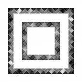 rAncient seamless square frames