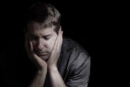 Mature man in Depression
