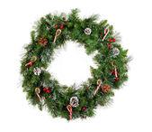 Vánoční věnec izolovaných na bílém pozadí