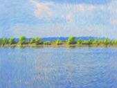 """Постер, картина, фотообои """"Вектор пасмурное небо голубое"""""""