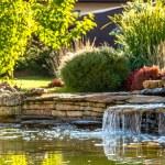 Modern landscape design in the garden...