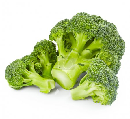 Fresh broccoli on white