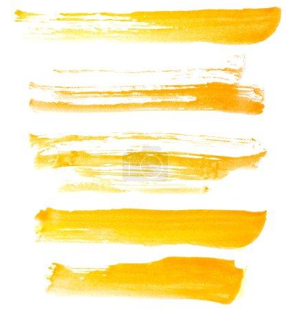 Set of paint strokes