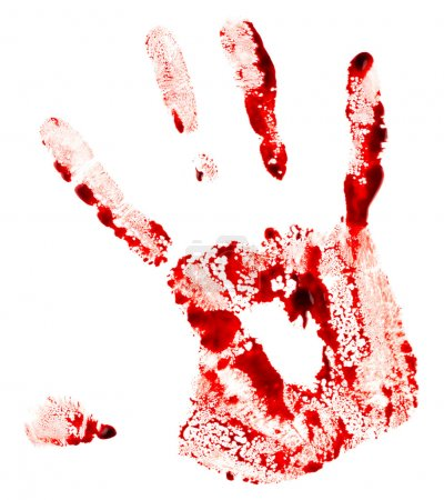 Bloody red handprint