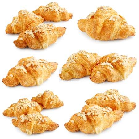 Fresh sweet croissants
