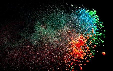 Photo for Splash of paint on black background - Royalty Free Image