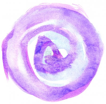Watercolor circle isolated