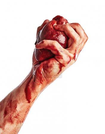 Heart in male hand