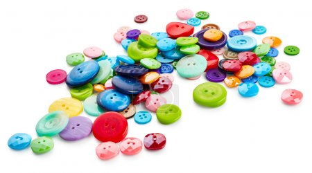 Multicoloured round buttons
