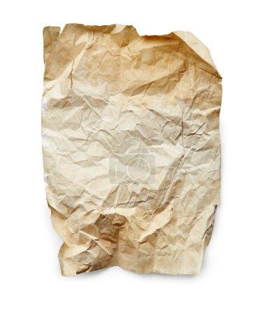 Photo pour Feuille de papier vintage isolée sur fond blanc - image libre de droit