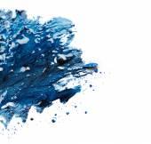 Smalto blu e ombretto