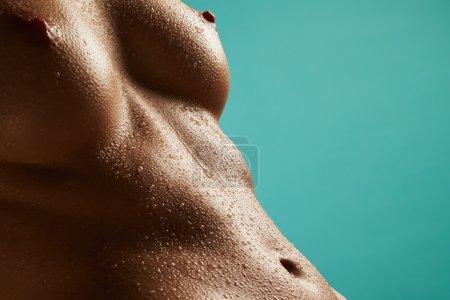Beautiful wet woman's body
