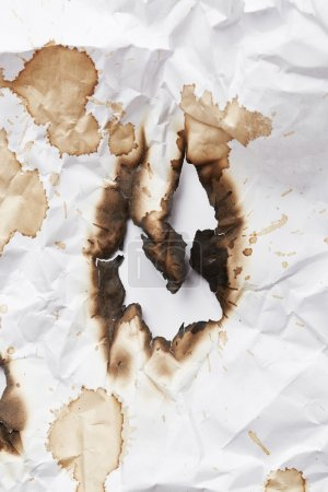 Burnt hole of paper