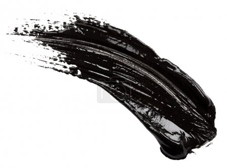 Strokes of black paint