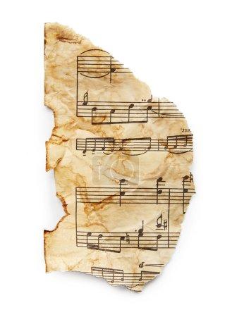 Photo pour Feuille de musique Vintage isolé sur fond blanc - image libre de droit