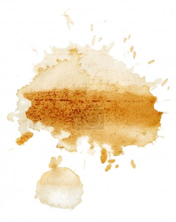 Stains of tea on white background