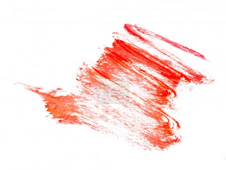 Strokes of red paint