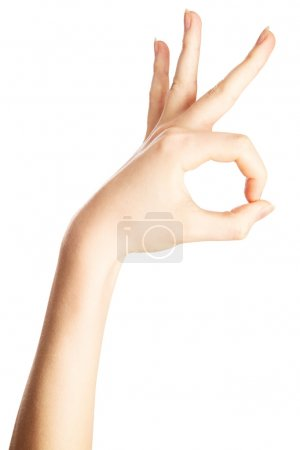 Woman's hand gesture