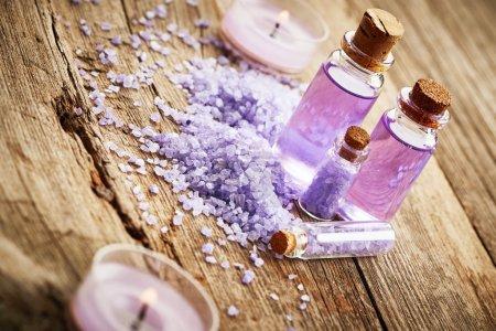 Purple spa still life