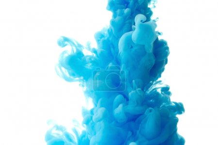Photo for Abstract splash of blue paint isolated on white background - Royalty Free Image