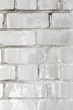 Photo for Texture of old grey brick wall. Grunge background - Royalty Free Image
