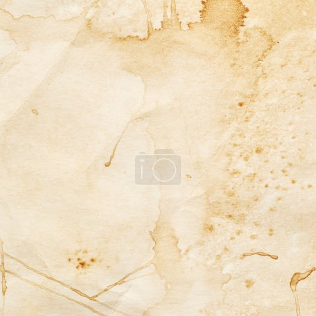 Paper with stains of coffee