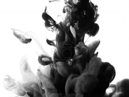 Abstract splash of black paint