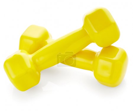 Yellow dumbbells