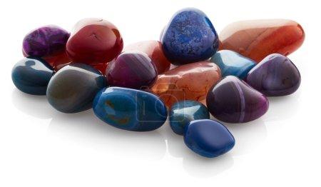 Semiprecious stones isolated on white background