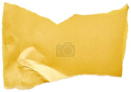 Crumpled yellow cardboard