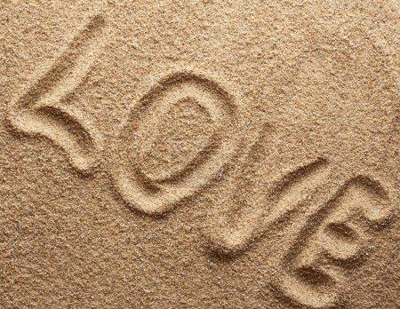 Sand texture. Love