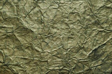 Photo pour Texture de papier vert froissé - image libre de droit