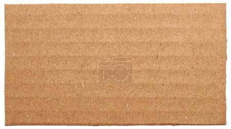 Cardboard on white background