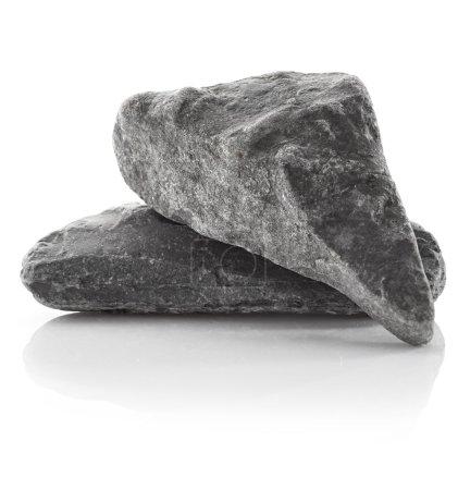 Grey rocks  on white background