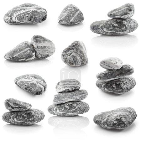 Set of grey stones