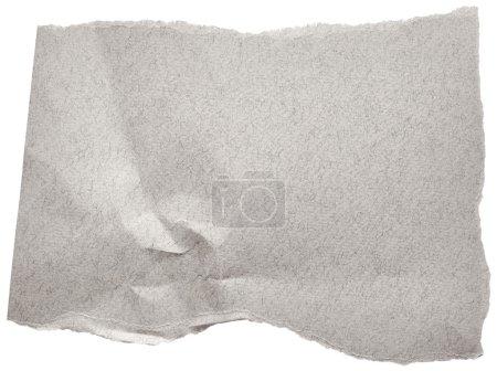 Photo pour Morceau de carton gris isolé sur fond blanc - image libre de droit