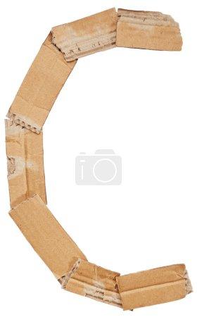Alphabet of cardboard. Letter C