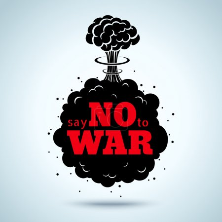 Illustration for Retro poster Say no to war - Royalty Free Image