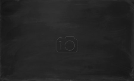 Photo for Close up blank black chalkboard. Background and texture. - Royalty Free Image