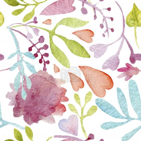 Floral background. Watercolor pattern.