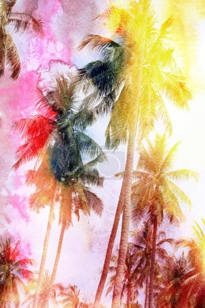 Abstract tropical landscape